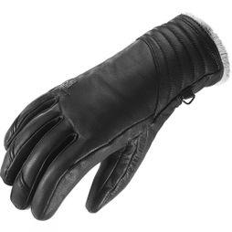 Salomon Women's Native Leather Ski & Snowboard Glove Black / Light Grey Lining