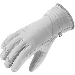 Salomon Women's Native Leather Ski & Snowboard Glove White / Light Grey Lining