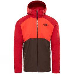 The North Face Men's Stratos Jacket Bittersweet Brown/ Fiery Red/ Rage Red