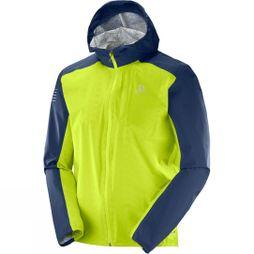 Salomon Men's Bonatti Windproof Jacket Acid Lime/Dress Blue
