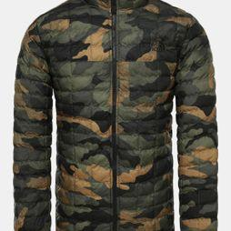 The North Face Mens ThermoBall Eco Jacket Burnt Olive Green Waxed Camo Print