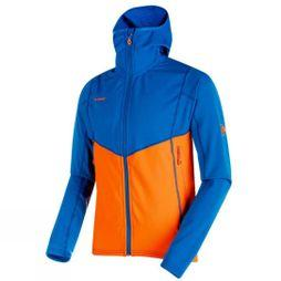 Mammut Mens Eiswand Advanced ML Hooded Jacket Ice- Sunrise