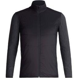 Icebreaker Mens Descender Hybrid Jacket Black/ Jet Heather