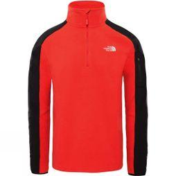 The North Face Men's Glacier Delta 1/4 Zip Fleece  Salsa Red/TNF Black