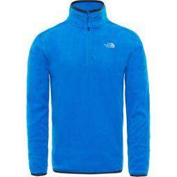 The North Face Men's 100 Glacier 1/4 Zip Bomber Blue