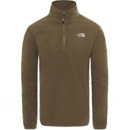 The North Face Men's 100 Glacier 1/4 Zip New Taupe Green