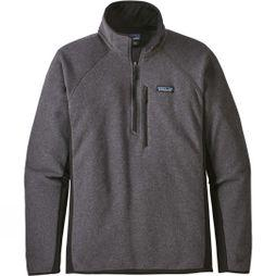 Patagonia Mens Performance Better Sweater Fleece 1/4-Zip Forge grey w/ Black