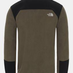 The North Face Men's Glacier Pro 1/4 Zip Fleece New Taupe Green/Tnf Black