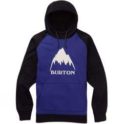 Burton Men's Crown Bonded Pullover Hoodie Royal Blue / True Black