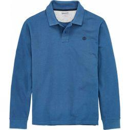 Mens Long Sleeve Miller River Polo Shirt