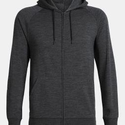 Icebreaker Mens Helliers LS Zip Hood Jet Heather