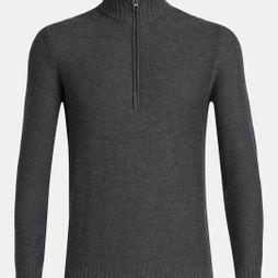 Icebreaker Mens Waypoint LS 1/2 Zip Sweater Charcoal Heather