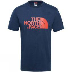 The North Face Men's Short Sleeve Easy Tee Urban Navy/Fiery Red