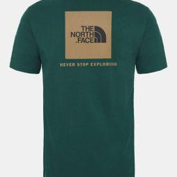 The North Face Men's Short Sleeve Red Box Tee Night Green