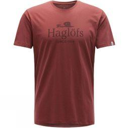 Haglofs Mens Camp Tee Maroon Red