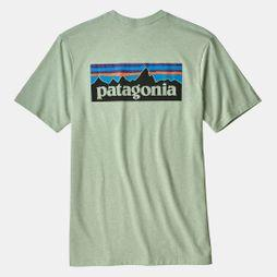 Patagonia Mens P-6 Logo Tee Lite Distilled Green