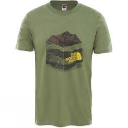 The North Face Mens Short Sleeve Flash T-Shirt Four Leaf Clover