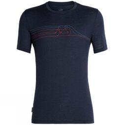 Icebreaker Mens Tech Lite Short Sleeve Crewe Cadence Pulse T-Shirt Midnight Navy