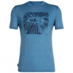 Icebreaker Mens Spector Short Sleeve Crewe T-Shirt Tree Top Thunder Logo