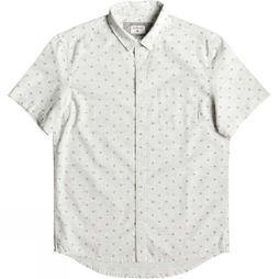 Quiksilver Mens Mini Fins Short Sleeve Shirt Gardenia Mini Fins SS