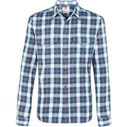 Fjallraven Men's Sarek Long Sleeve Flannel Shirt Uncle Blue