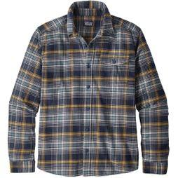 Mens Long Sleeved Lightweight Fjord Flannel Shirt