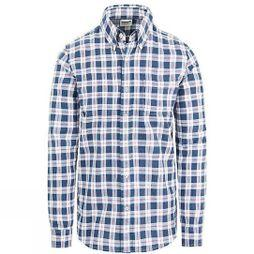 Mens Long Sleeve Pocket Med Plaid Shirt