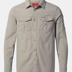Craghoppers Mens NosiLife Adventure II Long Sleeved Shirt Parchment