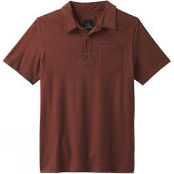 PrAna Mens Adder Polo Shirt Raisin