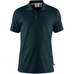 Fjallraven Mens Greenland Re-Cotton Polo Shirt Dark Navy