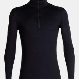 Icebreaker Mens 200 Oasis Long Sleeve Half Zip Top Black