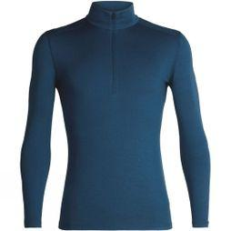 Icebreaker Mens 260 Tech Long Sleeve Half Zip Top Prussian Blue