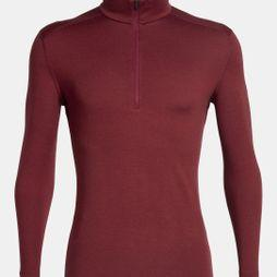 Icebreaker Mens 260 Tech Long Sleeve Half Zip Top Cabernet