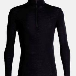 Icebreaker Mens 175 Everyday Long Sleeve Half Zip Top Black