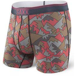 Saxx Mens Quest 2.0 Boxer Brief Red Mountain Top