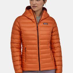 Patagonia Womens Down Sweater Hoody Sunset Orange