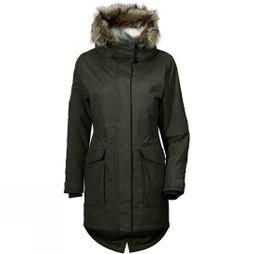 Didriksons Womens Meja Original Parka Dark Green