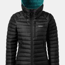Rab Womens Microlight Alpine Jacket 2018 Black/Seaglass