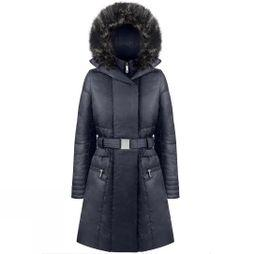 Poivre Blanc Womens Lotta Belted Down Coat Gothic Blue 2