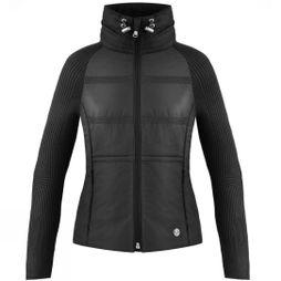 Poivre Blanc Womens Knitted Hybrid Jacket  Black