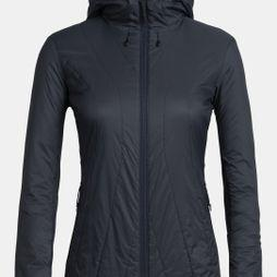 Icebreaker Womens Hyperia Lite Hybrid Hooded Jacket Midnight Navy