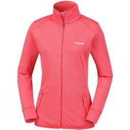 Columbia Womens Pine Hollow Full Zip Fleece Red Coral