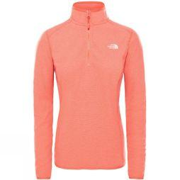 The North Face Women's 100 Glacier 1/4 Zip Fleece Juicy Red Stripe