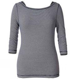 Womens Kickback To Front Stripe 3/4 Sleeve Top