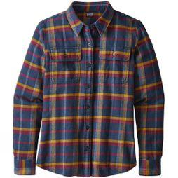Patagonia Womens Long Sleeved Fjord Flannel Shirt rebel arrow red