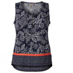 Royal Robbins WomensCool Mesh Eco-Tank Deep Blue Flower