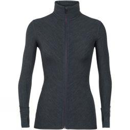 Icebreaker Womens Descender Long Sleeve Zip Jet Heather