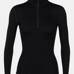 Icebreaker Womens 260 Tech Long Sleeve Half Zip Top Black