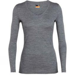 Icebreaker Womens 200 Oasis LS V Top Gritstone Heather