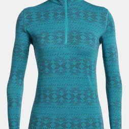 Icebreaker Women's 250 Vertex LS Half Zip Fleece Crystalline Arctic Teal